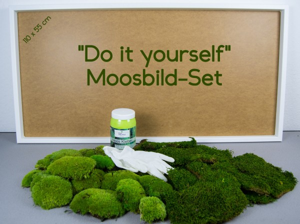 Moosbild DIY Set - Do It Yourself Wandbild